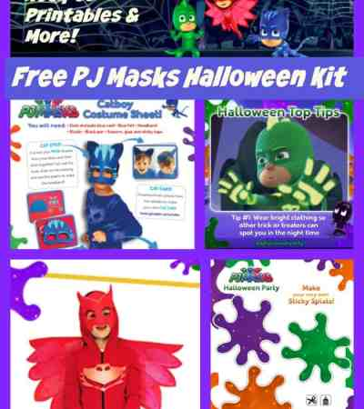 Looking for some Halloween fun for your PJ Masks fan? We have a free Printable PJ Masks Halloween Kit with lots of goodies you won't want to miss.