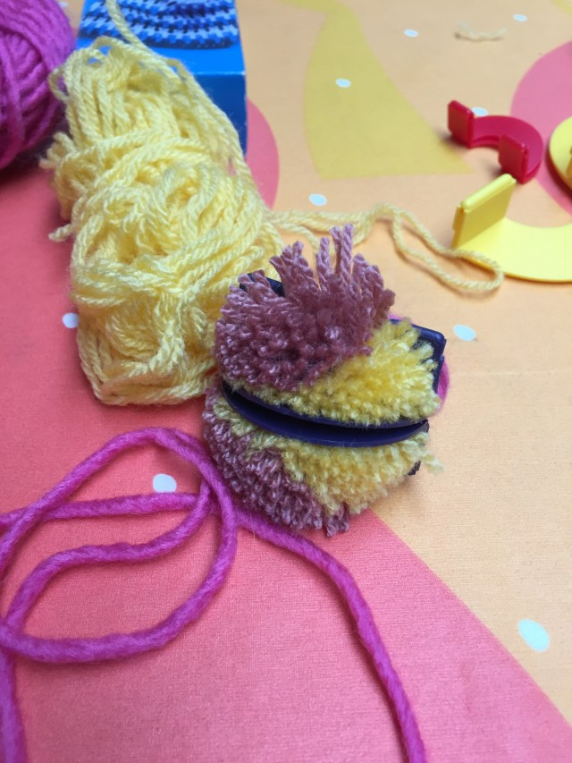 pompom in progress