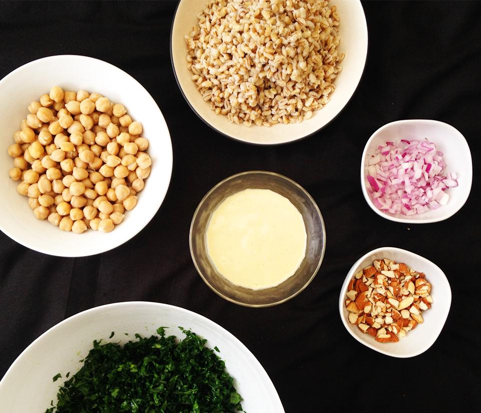 kale barley chickpea salad 19