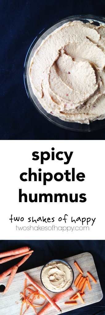 Spicy Chipotle Hummus | Two Shakes of Happy