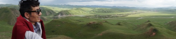 Sangja over the Sangke Grasslands, Sangchu, Amdo