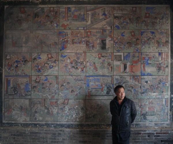 Frescoes narrating the Romance of the Three Kingdoms (1)