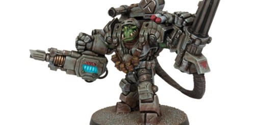 Those arms look unwieldy but painted up they don't look half-bad. Marauder Ripper Suit copyright Mantic Entertainment Ltd.