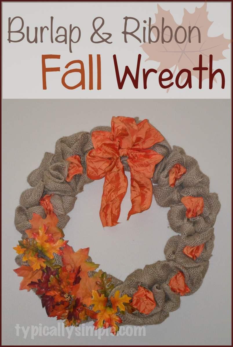 Burlap and Ribbon Fall Wreath