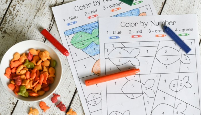 Color By Number – Free Printable