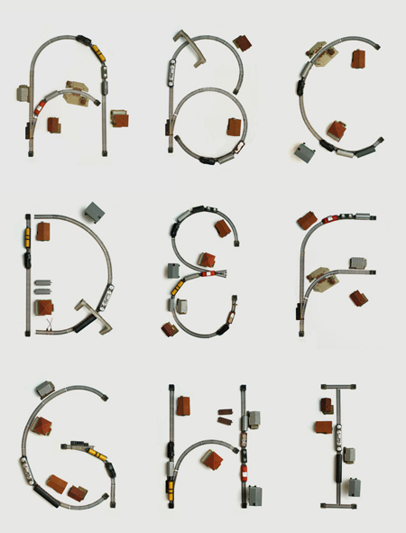 Train set typography by bureau bruneau for Bruneau bureau