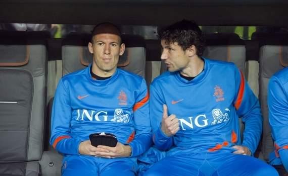 Arjen Robben and Mark van Bommel, Bayern - Netherlands