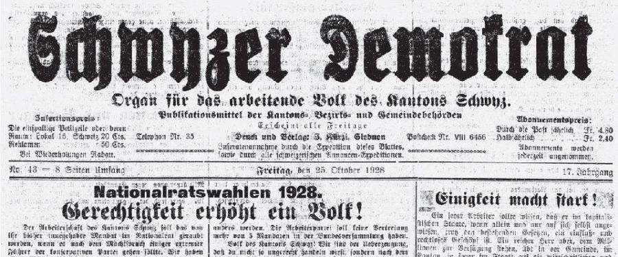 Schwyzer Demokrat 2.0