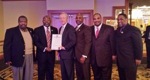GUF Receiving Mayoral Proclamation in Winston Salem, NC
