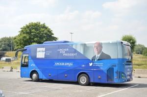 The Campaign Bus of Jeane-Claude Juncker (President of the European Commission) - European Parliament Elections 2014