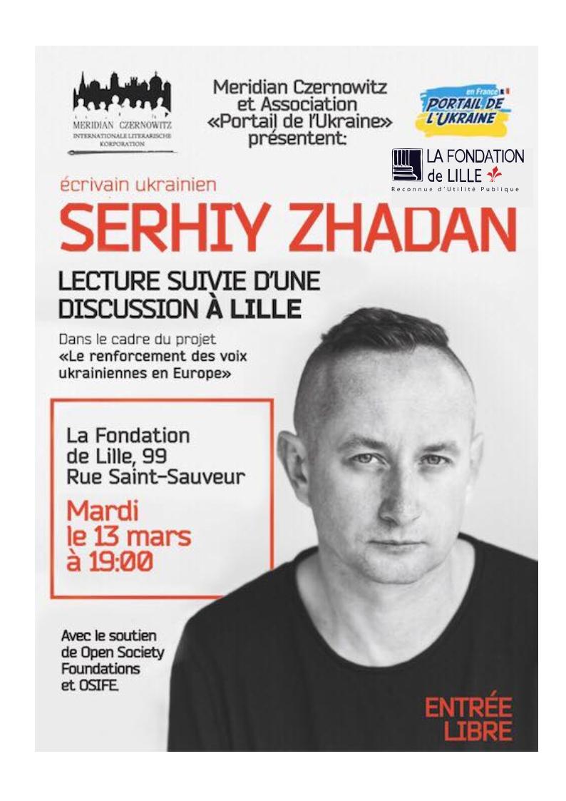 Tournée de Serhiy Zhadan ( JADAN) en France