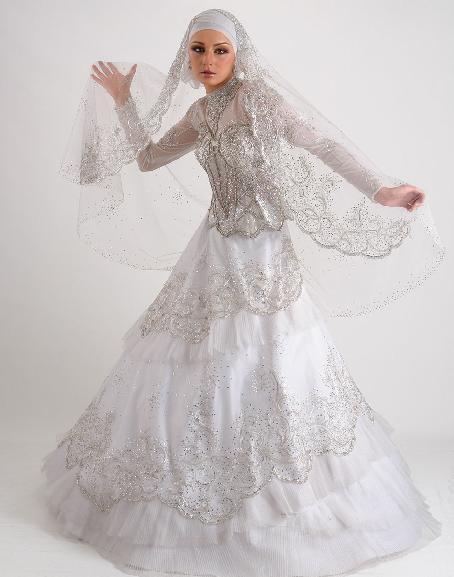 1003161949205 احدث فساتين زفاف للمحجبات 2013