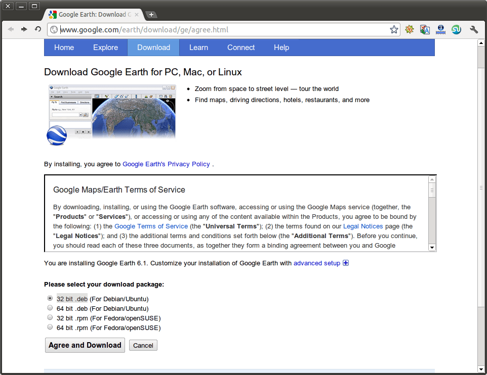 how to download google earth files