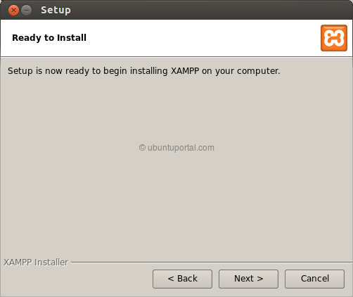 Installation wizard XAMPP 5