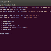 sudo pamusb-conf --add-device ubuntustick