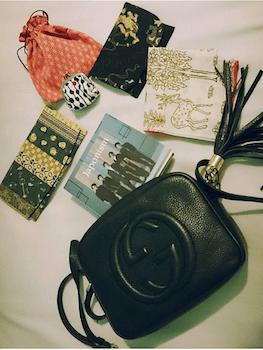 3グッチミニバッグ×CD×巾着袋