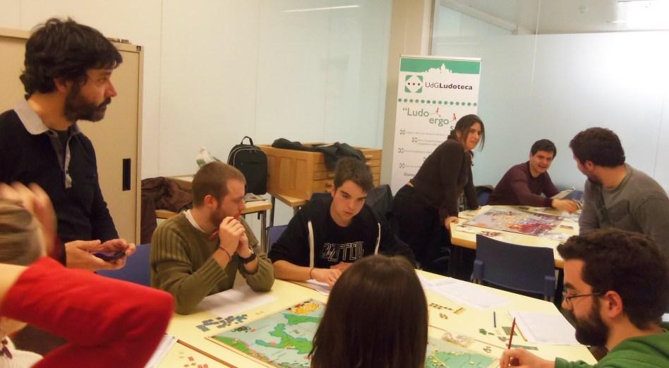 Participants en la Ludoteca de la UdG
