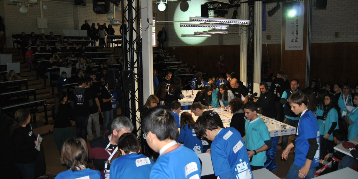 Visió general de l'espai de la First Lego League a l'EPS