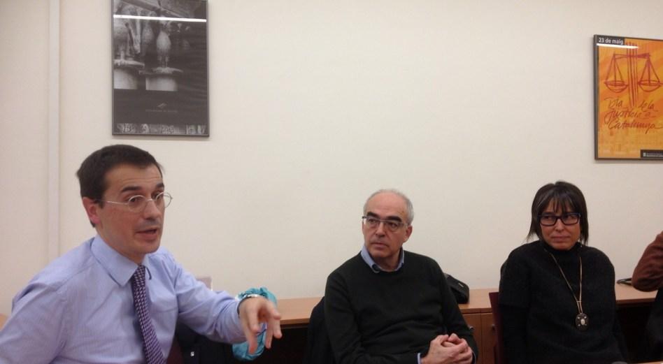 Amadeu Altafaj, a la Facultat de Dret de la UdG