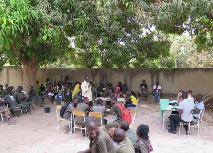 Aula a l'aire lliure al Senegal