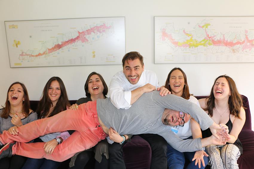 Estudiants de Publicitat amb Jordi Roca