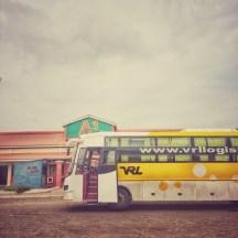 VLR Sleeper Bus Hampi India