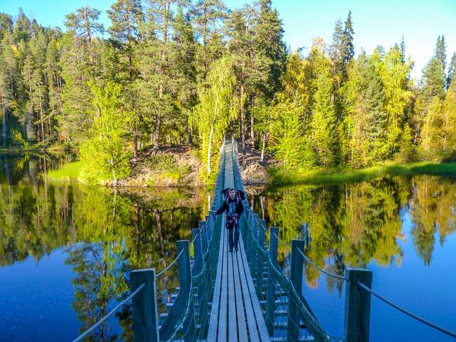 Hängebrücke-OulankaNationalpark