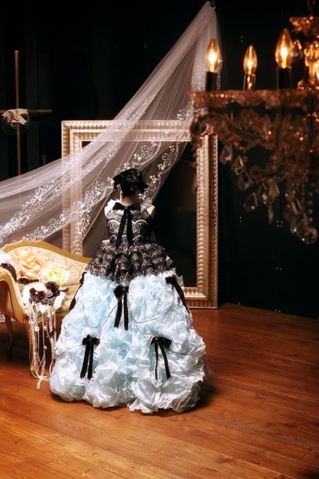 七五三の衣装コレクション 女の子(水色のドレス)