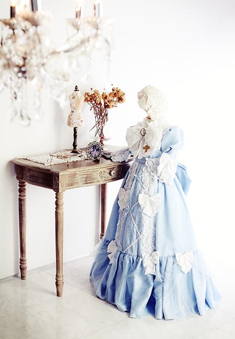 七五三の衣装コレクション 女の子(大きな白いリボンがかわいい、お姫様ドレス)
