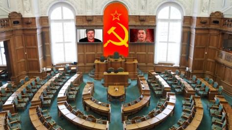 Enhedslistens forslag til udsmykning af folketingssalen