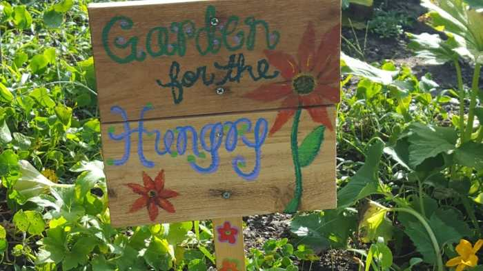 The Blue Heron Community Garden shares food regularly.
