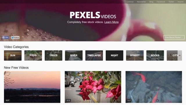 『PEXELS』ウェブサイト