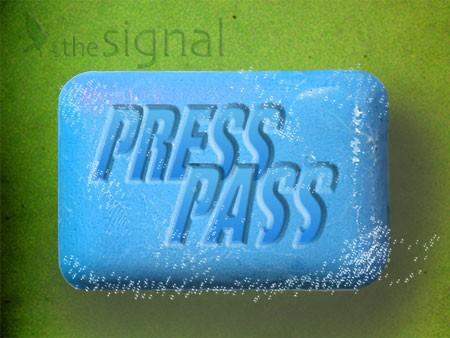 Press Pass logo, created by Tiffany Fitzpatrick: The Signal.
