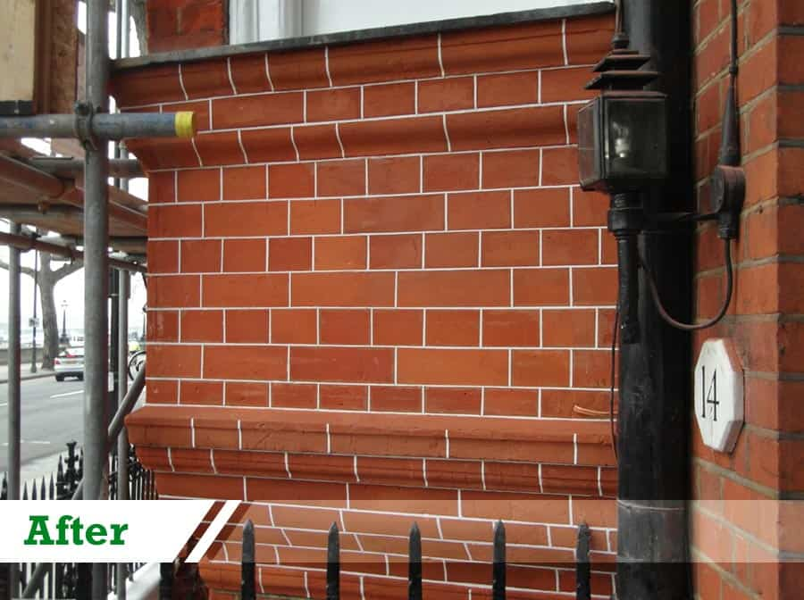 Brick Repointing and Restoration completed by UK Performance Restoration, London UK