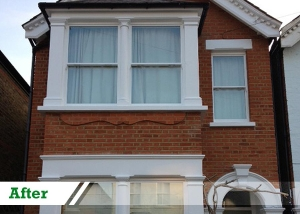 Paint removal job for residential customer in Wimbledon completed by UK Performance Restoration, London UK.
