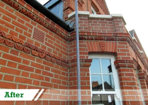 Weatherstruck brick repointing done for residential client in Pimlico by UK Performance Restoration, London UK.
