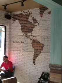 Paint your brick wall white, and leave some bare to make a map - If the next place has a brick wall