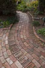 pathway made of refurbished bricks