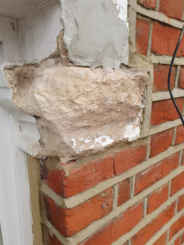 stone repair restoration before