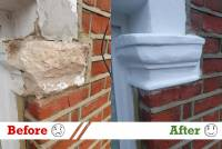 stone repair restoration before after