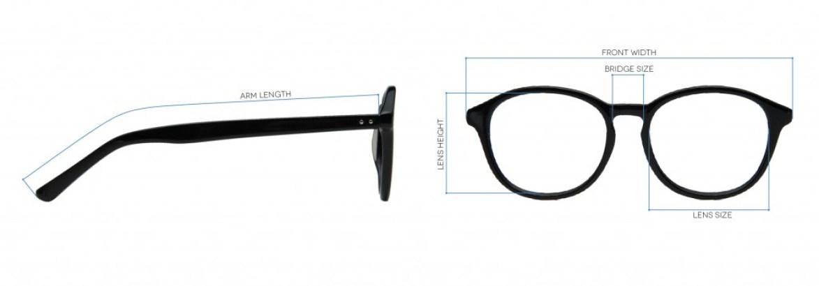 Eyeglasses Frame Size