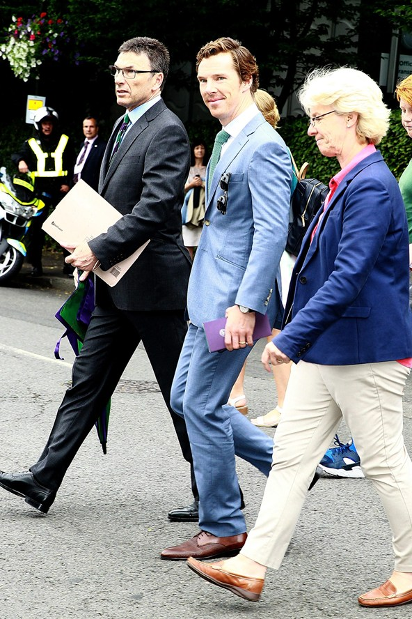 Benedict Cumberbatch Wimbledon Style