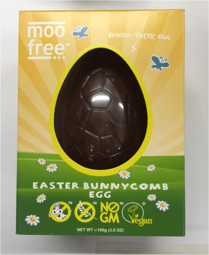 Moo Free chocolate egg