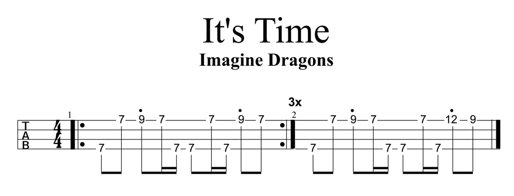 Itu0026#39;s Time by Imagine Dragons Riff : Ukulele Go
