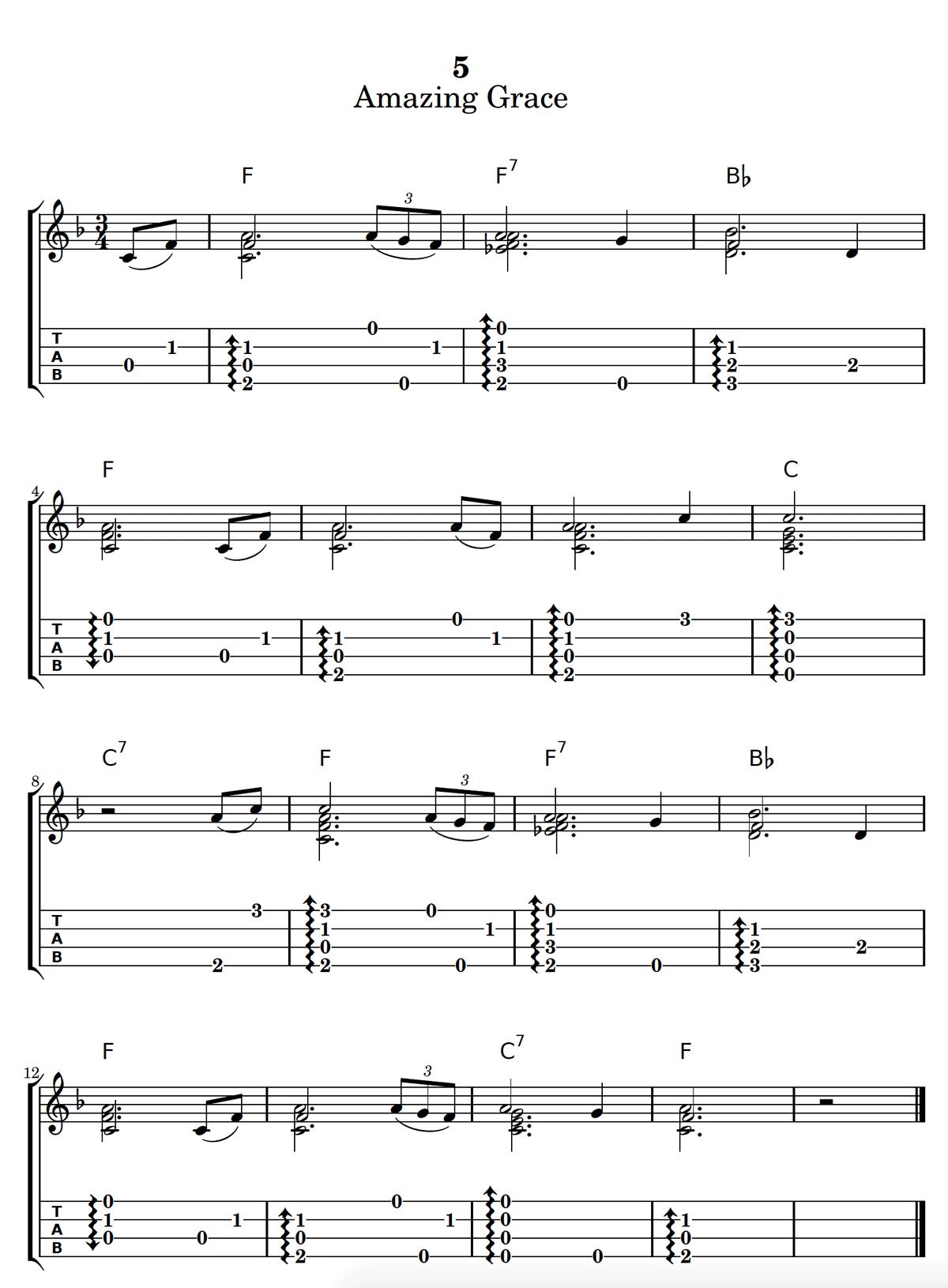 Amazing Grace Chord Melody Ukulele Tab : Ukulele Go