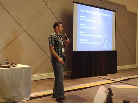 Jared Johnson speaking at HITMC 2015.