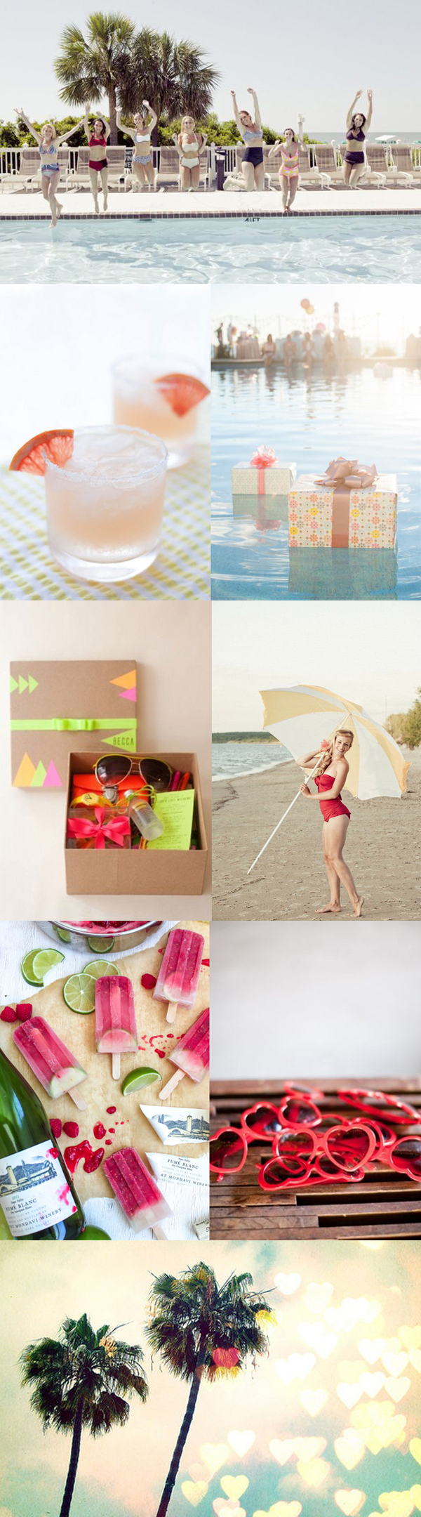 Tropical Beach Bachelorette Inspiration Board
