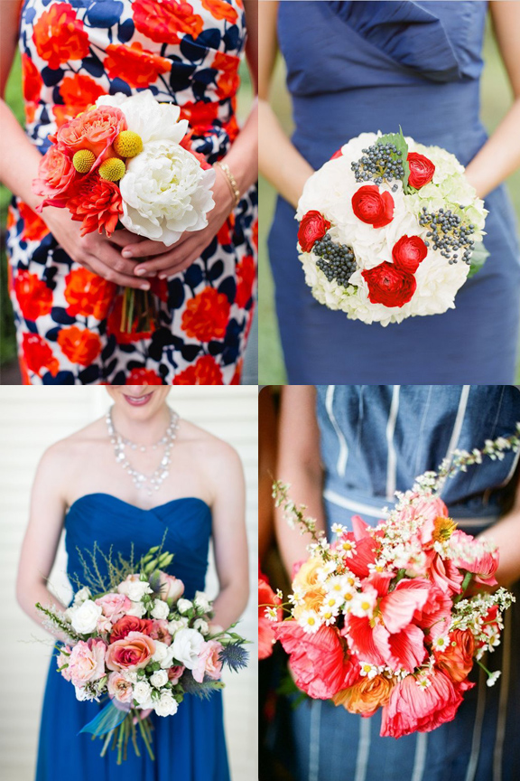 frock + flowers // 4th of July edition. How to pull off a red, white and blue bridesmaid look and keep it classy rather than cheesy
