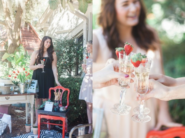 A Sweet Strawberries and Champagne Garden Bridal Brunch | Ultimate Bridesmaid | Mintwood Photo Co.