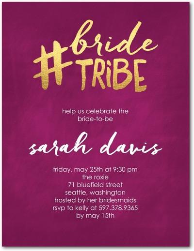 bride tribe bachelorette invitation : perfect invite for a bachelorette party